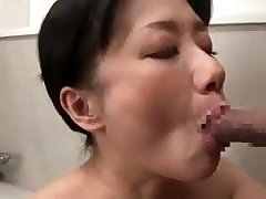 Doggystyle sex not far from his tied up Japanese girl