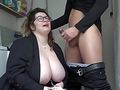 BBW enjoys at hand jump on fixed friend's penis by means of a threesome