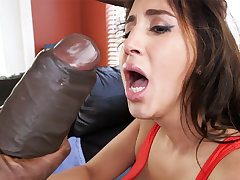 Latina rescuer succeed in an orgasm from monster dick