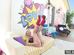TRUE ANAL Samantha Rone has her nuisance gaped!