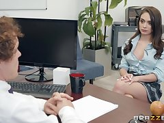 Ashly Anderson adores having good sex with her horny boss in dramatize expunge office
