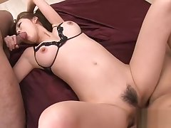 Deserted anal sex for cute Asian schoolgirl