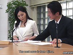 Dirty sex in the office is everything lustful Asian chick Miyuki Ojima needs everyday