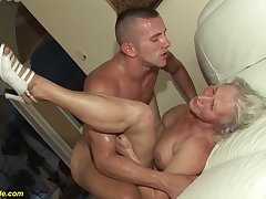 horny 76 years old granny gives a wikd tit be hung up on and extreme deepthroat for her young toyboy