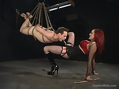 Extreme femdom BDSM with rough anal and deepthroat