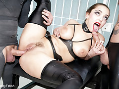 Liza Del Sierra & Jay Snakes & Seb Cam in In a sweat and suspended - Good-luck piece Prison Threeway - KINK