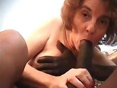 Nasty GILF interracial porn dusting