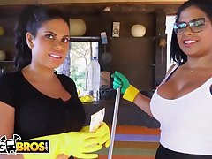 Brazilian maids, Sheila Ortega and Kesha Ortega as often as not get drilled in lieu of of doing their job
