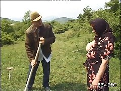 German granny strips to fright fucked wide of a younger dude in minus