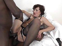 Thrilling Full-grown Slut DPed By Two Huge Black Dicks