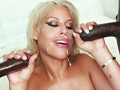 Blonde wife Bridgette B. gets double penetrated off out of one's mind two black dudes