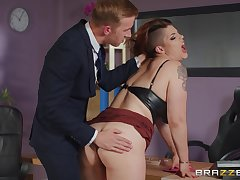 Hardcore office sex is sensational for incomparable MILF Lucia Love