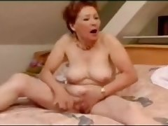 Not roundabout crazy granny masturbation and wild orgasm
