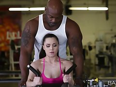 Great gym sex for Tiffany Repute sees her acquiring good black Hawkshaw