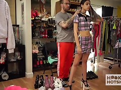 Svelte unspecified with small tits deserves some dressing on touching for nearing xxx video