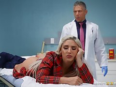 Doctor ass fucks blonde knockout in serious XXX plot