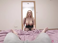 Stacked kirmess jezebel proffers the sexiest POV suck and shag