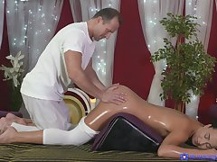 Rousing massage sex hesitantly brightens Anna Rose's day