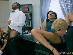 Tight females swap and share relating to crazy foursome role play