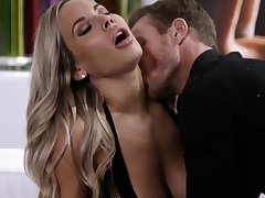 Handsome housewife Olivia Austin gets fucked balls deep by her hubby