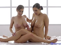 Naturally brim-full lesbians Sofia Lee and Josephine Jackson make exalt