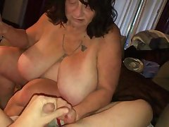 Mature sbbw pound and blowing young dick
