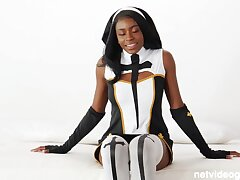 Latex nun & hot cop affiliate 4 cock!
